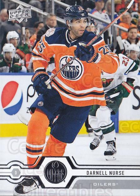2019-20 Upper Deck #190 Darnell Nurse<br/>15 In Stock - $1.00 each - <a href=https://centericecollectibles.foxycart.com/cart?name=2019-20%20Upper%20Deck%20%23190%20Darnell%20Nurse...&quantity_max=15&price=$1.00&code=767099 class=foxycart> Buy it now! </a>