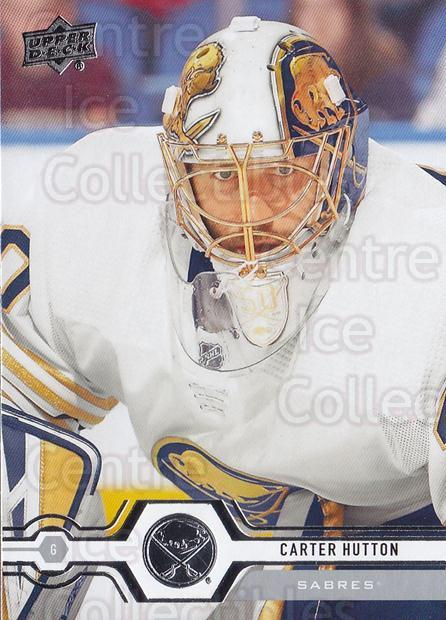 2019-20 Upper Deck #263 Carter Hutton<br/>15 In Stock - $1.00 each - <a href=https://centericecollectibles.foxycart.com/cart?name=2019-20%20Upper%20Deck%20%23263%20Carter%20Hutton...&quantity_max=15&price=$1.00&code=767172 class=foxycart> Buy it now! </a>