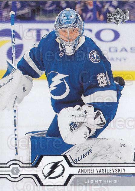 2019-20 Upper Deck #272 Andrei Vasilevskiy<br/>15 In Stock - $1.00 each - <a href=https://centericecollectibles.foxycart.com/cart?name=2019-20%20Upper%20Deck%20%23272%20Andrei%20Vasilevs...&quantity_max=15&price=$1.00&code=767181 class=foxycart> Buy it now! </a>