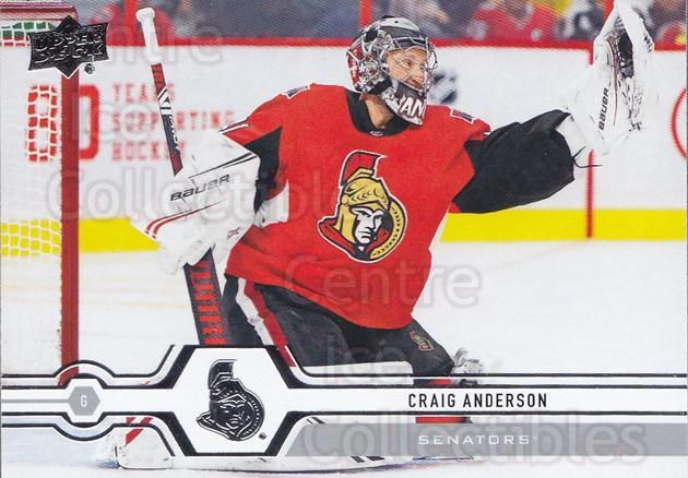 2019-20 Upper Deck #290 Craig Anderson<br/>14 In Stock - $1.00 each - <a href=https://centericecollectibles.foxycart.com/cart?name=2019-20%20Upper%20Deck%20%23290%20Craig%20Anderson...&quantity_max=14&price=$1.00&code=767199 class=foxycart> Buy it now! </a>