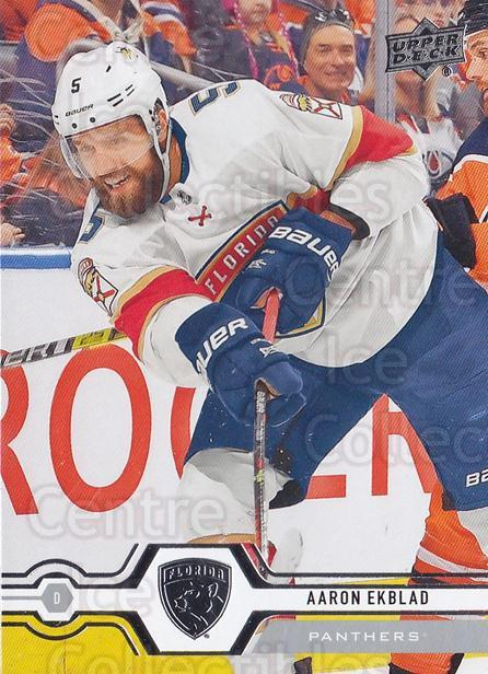 2019-20 Upper Deck #293 Aaron Ekblad<br/>15 In Stock - $1.00 each - <a href=https://centericecollectibles.foxycart.com/cart?name=2019-20%20Upper%20Deck%20%23293%20Aaron%20Ekblad...&quantity_max=15&price=$1.00&code=767202 class=foxycart> Buy it now! </a>