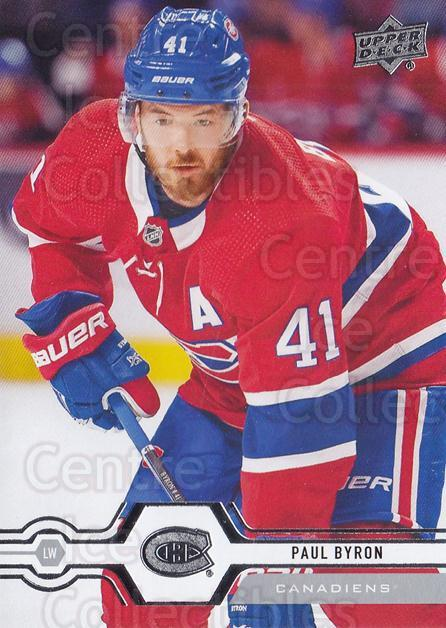 2019-20 Upper Deck #301 Paul Byron<br/>15 In Stock - $1.00 each - <a href=https://centericecollectibles.foxycart.com/cart?name=2019-20%20Upper%20Deck%20%23301%20Paul%20Byron...&quantity_max=15&price=$1.00&code=767210 class=foxycart> Buy it now! </a>