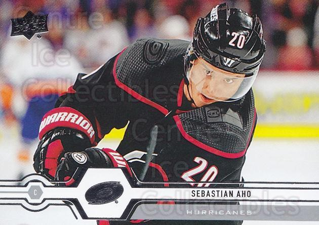 2019-20 Upper Deck #304 Sebastian Aho<br/>15 In Stock - $1.00 each - <a href=https://centericecollectibles.foxycart.com/cart?name=2019-20%20Upper%20Deck%20%23304%20Sebastian%20Aho...&quantity_max=15&price=$1.00&code=767213 class=foxycart> Buy it now! </a>