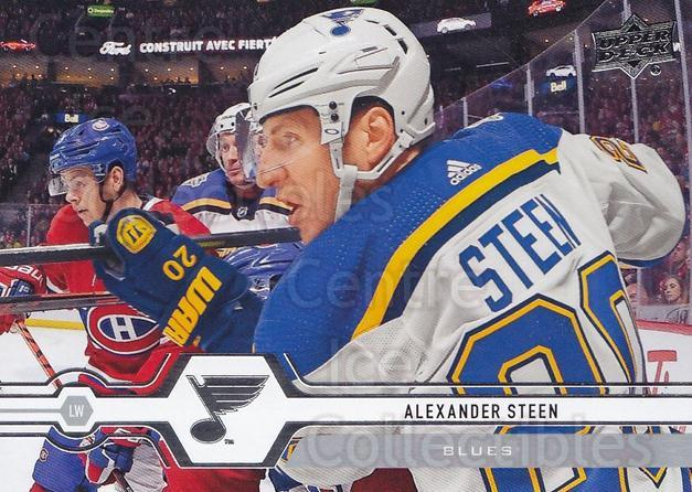 2019-20 Upper Deck #369 Alexander Steen<br/>15 In Stock - $1.00 each - <a href=https://centericecollectibles.foxycart.com/cart?name=2019-20%20Upper%20Deck%20%23369%20Alexander%20Steen...&quantity_max=15&price=$1.00&code=767278 class=foxycart> Buy it now! </a>