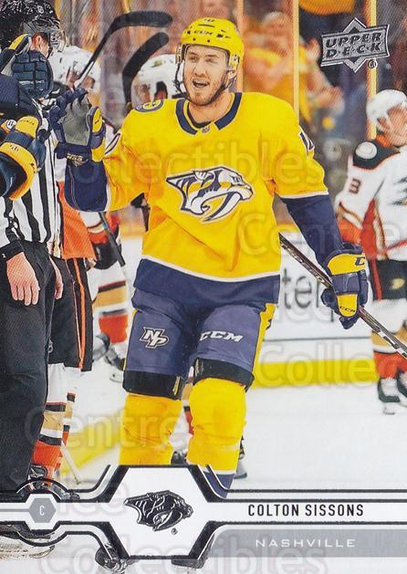 2019-20 Upper Deck #391 Colton Sissons<br/>15 In Stock - $1.00 each - <a href=https://centericecollectibles.foxycart.com/cart?name=2019-20%20Upper%20Deck%20%23391%20Colton%20Sissons...&quantity_max=15&price=$1.00&code=767300 class=foxycart> Buy it now! </a>