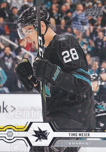 2019-20 Upper Deck #412 Timo Meier<br/>15 In Stock - $1.00 each - <a href=https://centericecollectibles.foxycart.com/cart?name=2019-20%20Upper%20Deck%20%23412%20Timo%20Meier...&quantity_max=15&price=$1.00&code=767321 class=foxycart> Buy it now! </a>