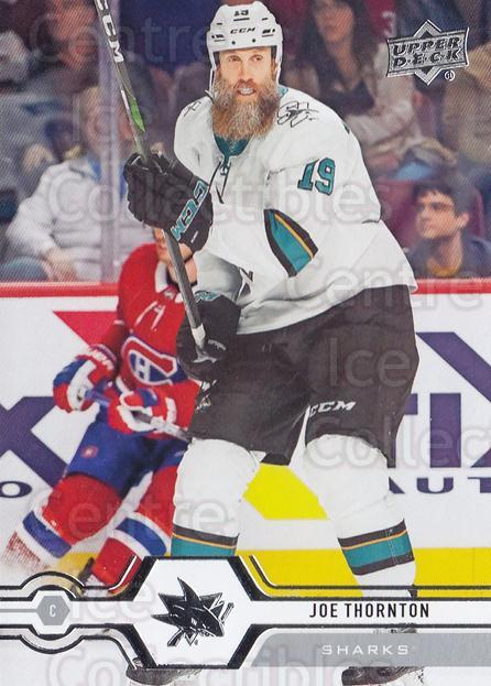 2019-20 Upper Deck #413 Joe Thornton<br/>15 In Stock - $1.00 each - <a href=https://centericecollectibles.foxycart.com/cart?name=2019-20%20Upper%20Deck%20%23413%20Joe%20Thornton...&quantity_max=15&price=$1.00&code=767322 class=foxycart> Buy it now! </a>