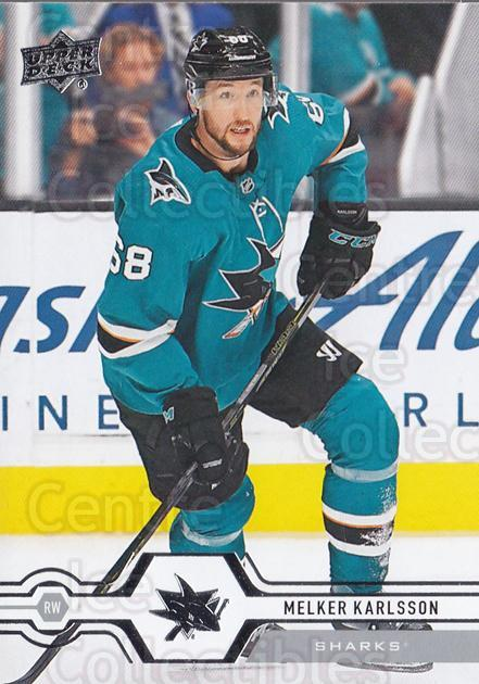 2019-20 Upper Deck #416 Melker Karlsson<br/>15 In Stock - $1.00 each - <a href=https://centericecollectibles.foxycart.com/cart?name=2019-20%20Upper%20Deck%20%23416%20Melker%20Karlsson...&quantity_max=15&price=$1.00&code=767325 class=foxycart> Buy it now! </a>