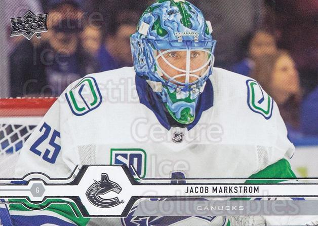 2019-20 Upper Deck #419 Jacob Markstrom<br/>15 In Stock - $1.00 each - <a href=https://centericecollectibles.foxycart.com/cart?name=2019-20%20Upper%20Deck%20%23419%20Jacob%20Markstrom...&quantity_max=15&price=$1.00&code=767328 class=foxycart> Buy it now! </a>