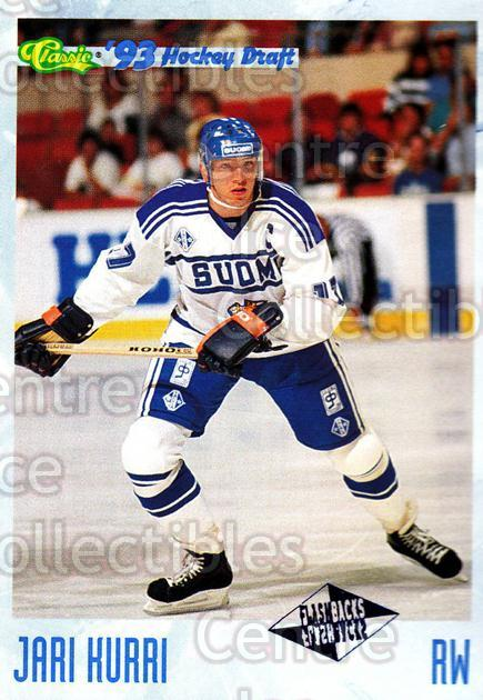 1993 Classic Hockey Draft #121 Jari Kurri<br/>8 In Stock - $1.00 each - <a href=https://centericecollectibles.foxycart.com/cart?name=1993%20Classic%20Hockey%20Draft%20%23121%20Jari%20Kurri...&quantity_max=8&price=$1.00&code=7673 class=foxycart> Buy it now! </a>