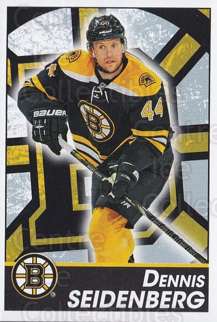 2013-14 Panini Stickers #32 Dennis Seidenberg<br/>2 In Stock - $1.00 each - <a href=https://centericecollectibles.foxycart.com/cart?name=2013-14%20Panini%20Stickers%20%2332%20Dennis%20Seidenbe...&quantity_max=2&price=$1.00&code=767483 class=foxycart> Buy it now! </a>