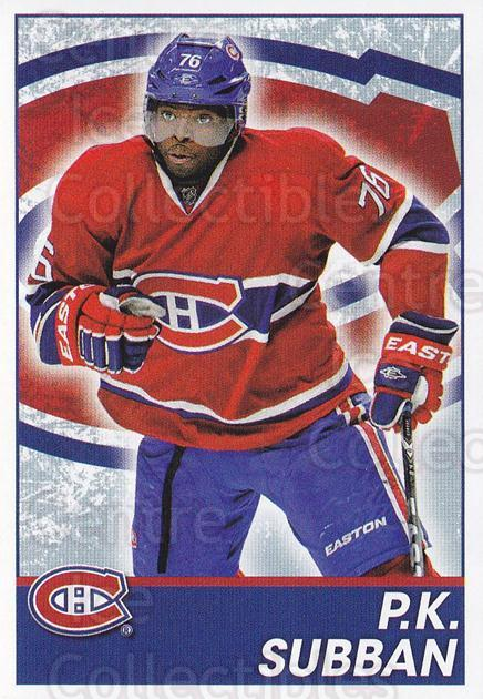 2013-14 Panini Stickers #85 PK Subban<br/>2 In Stock - $1.00 each - <a href=https://centericecollectibles.foxycart.com/cart?name=2013-14%20Panini%20Stickers%20%2385%20PK%20Subban...&quantity_max=2&price=$1.00&code=767536 class=foxycart> Buy it now! </a>