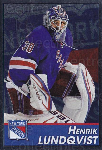 2013-14 Panini Stickers #110 Henrik Lundqvist<br/>2 In Stock - $3.00 each - <a href=https://centericecollectibles.foxycart.com/cart?name=2013-14%20Panini%20Stickers%20%23110%20Henrik%20Lundqvis...&quantity_max=2&price=$3.00&code=767561 class=foxycart> Buy it now! </a>