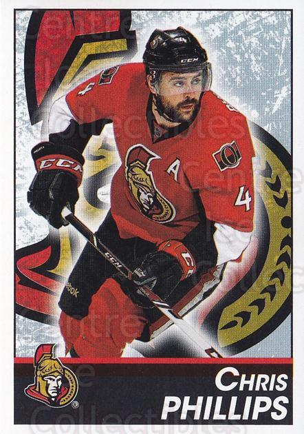 2013-14 Panini Stickers #121 Chris Phillips<br/>2 In Stock - $1.00 each - <a href=https://centericecollectibles.foxycart.com/cart?name=2013-14%20Panini%20Stickers%20%23121%20Chris%20Phillips...&quantity_max=2&price=$1.00&code=767572 class=foxycart> Buy it now! </a>