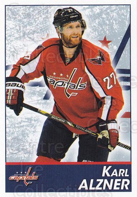 2013-14 Panini Stickers #168 Karl Alzner<br/>2 In Stock - $1.00 each - <a href=https://centericecollectibles.foxycart.com/cart?name=2013-14%20Panini%20Stickers%20%23168%20Karl%20Alzner...&quantity_max=2&price=$1.00&code=767619 class=foxycart> Buy it now! </a>