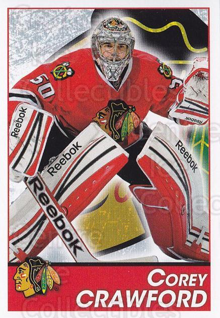 2013-14 Panini Stickers #191 Corey Crawford<br/>2 In Stock - $1.00 each - <a href=https://centericecollectibles.foxycart.com/cart?name=2013-14%20Panini%20Stickers%20%23191%20Corey%20Crawford...&quantity_max=2&price=$1.00&code=767642 class=foxycart> Buy it now! </a>