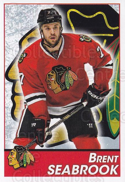 2013-14 Panini Stickers #193 Brent Seabrook<br/>2 In Stock - $1.00 each - <a href=https://centericecollectibles.foxycart.com/cart?name=2013-14%20Panini%20Stickers%20%23193%20Brent%20Seabrook...&quantity_max=2&price=$1.00&code=767644 class=foxycart> Buy it now! </a>