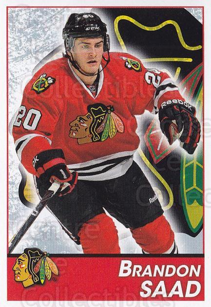 2013-14 Panini Stickers #195 Brandon Saad<br/>2 In Stock - $1.00 each - <a href=https://centericecollectibles.foxycart.com/cart?name=2013-14%20Panini%20Stickers%20%23195%20Brandon%20Saad...&quantity_max=2&price=$1.00&code=767646 class=foxycart> Buy it now! </a>