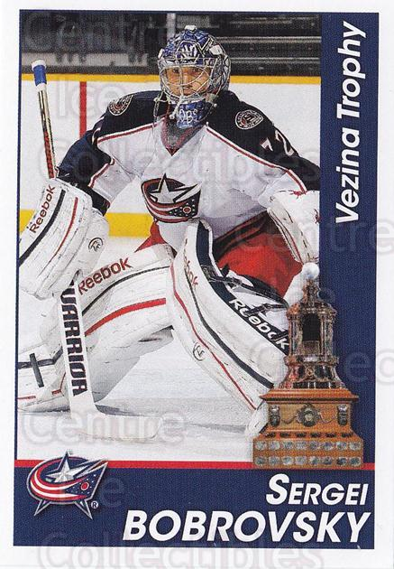 2013-14 Panini Stickers #324 Sergei Bobrovsky, Vezina Trophy<br/>2 In Stock - $2.00 each - <a href=https://centericecollectibles.foxycart.com/cart?name=2013-14%20Panini%20Stickers%20%23324%20Sergei%20Bobrovsk...&quantity_max=2&price=$2.00&code=767775 class=foxycart> Buy it now! </a>