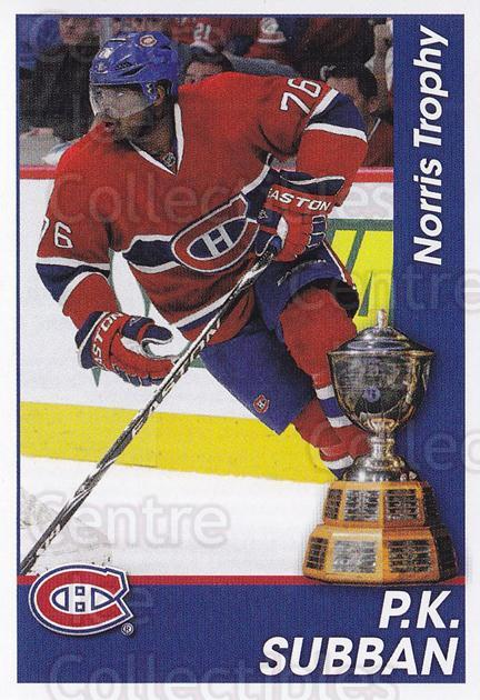 2013-14 Panini Stickers #325 PK Subban, Norris Trophy<br/>1 In Stock - $2.00 each - <a href=https://centericecollectibles.foxycart.com/cart?name=2013-14%20Panini%20Stickers%20%23325%20PK%20Subban,%20Norr...&quantity_max=1&price=$2.00&code=767776 class=foxycart> Buy it now! </a>