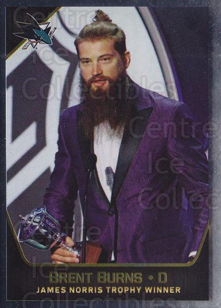 2017-18 Panini Stickers #5 Brent Burns, Norris Trophy Winner<br/>1 In Stock - $1.00 each - <a href=https://centericecollectibles.foxycart.com/cart?name=2017-18%20Panini%20Stickers%20%235%20Brent%20Burns,%20No...&quantity_max=1&price=$1.00&code=767814 class=foxycart> Buy it now! </a>
