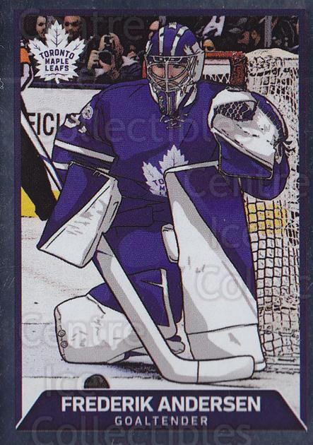 2017-18 Panini Stickers #207 Frederik Andersen<br/>1 In Stock - $2.00 each - <a href=https://centericecollectibles.foxycart.com/cart?name=2017-18%20Panini%20Stickers%20%23207%20Frederik%20Anders...&quantity_max=1&price=$2.00&code=768016 class=foxycart> Buy it now! </a>