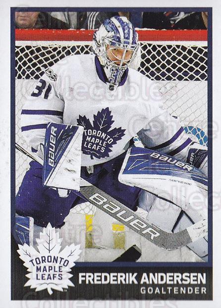 2017-18 Panini Stickers #211 Frederik Andersen<br/>1 In Stock - $2.00 each - <a href=https://centericecollectibles.foxycart.com/cart?name=2017-18%20Panini%20Stickers%20%23211%20Frederik%20Anders...&quantity_max=1&price=$2.00&code=768020 class=foxycart> Buy it now! </a>