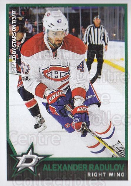 2017-18 Panini Stickers #311 Alexander Radulov<br/>1 In Stock - $1.00 each - <a href=https://centericecollectibles.foxycart.com/cart?name=2017-18%20Panini%20Stickers%20%23311%20Alexander%20Radul...&quantity_max=1&price=$1.00&code=768120 class=foxycart> Buy it now! </a>