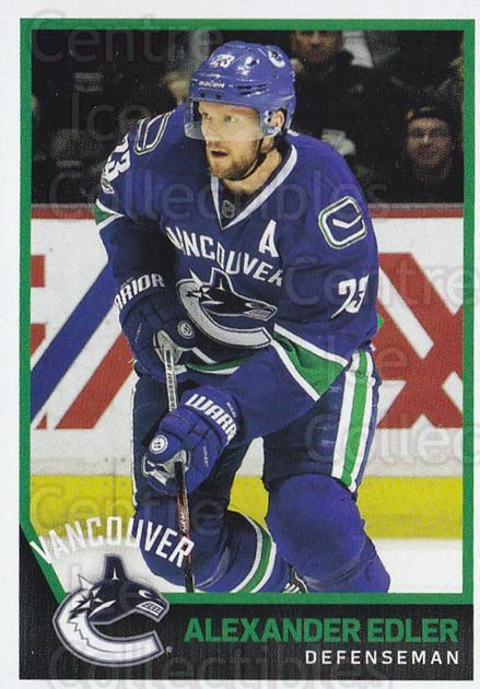 2017-18 Panini Stickers #408 Alexander Edler<br/>1 In Stock - $1.00 each - <a href=https://centericecollectibles.foxycart.com/cart?name=2017-18%20Panini%20Stickers%20%23408%20Alexander%20Edler...&quantity_max=1&price=$1.00&code=768217 class=foxycart> Buy it now! </a>