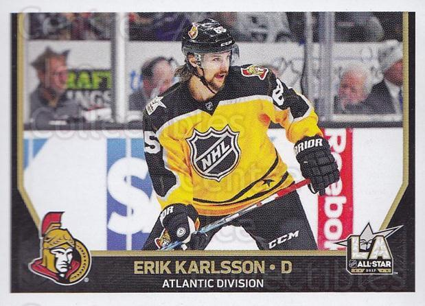 2017-18 Panini Stickers #469 Erik Karlsson<br/>1 In Stock - $2.00 each - <a href=https://centericecollectibles.foxycart.com/cart?name=2017-18%20Panini%20Stickers%20%23469%20Erik%20Karlsson...&quantity_max=1&price=$2.00&code=768278 class=foxycart> Buy it now! </a>