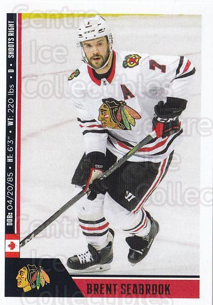 2018-19 Panini Stickers #324 Brent Seabrook<br/>2 In Stock - $1.00 each - <a href=https://centericecollectibles.foxycart.com/cart?name=2018-19%20Panini%20Stickers%20%23324%20Brent%20Seabrook...&quantity_max=2&price=$1.00&code=768642 class=foxycart> Buy it now! </a>