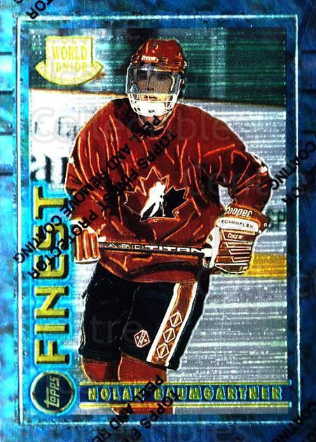 1994-95 Finest #148 Nolan Baumgartner<br/>2 In Stock - $1.00 each - <a href=https://centericecollectibles.foxycart.com/cart?name=1994-95%20Finest%20%23148%20Nolan%20Baumgartn...&quantity_max=2&price=$1.00&code=768 class=foxycart> Buy it now! </a>