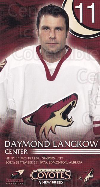 2003-04 Phoenix Coyotes Postcards #12 Daymond Langkow<br/>2 In Stock - $3.00 each - <a href=https://centericecollectibles.foxycart.com/cart?name=2003-04%20Phoenix%20Coyotes%20Postcards%20%2312%20Daymond%20Langkow...&quantity_max=2&price=$3.00&code=769241 class=foxycart> Buy it now! </a>