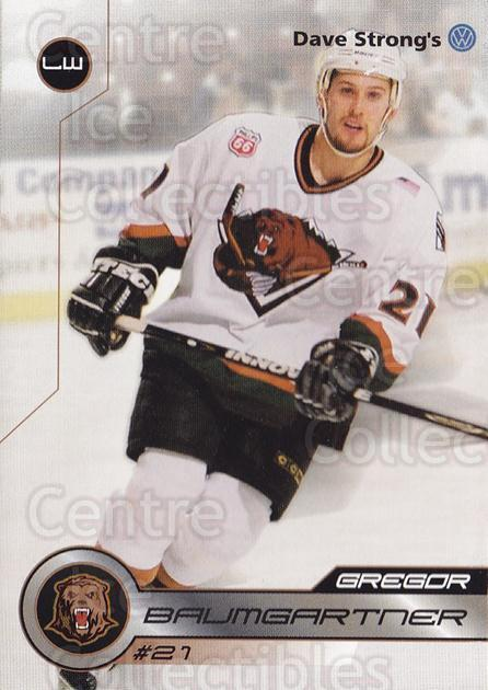2001-02 Utah Grizzlies #3 Gregor Baumgartner<br/>2 In Stock - $3.00 each - <a href=https://centericecollectibles.foxycart.com/cart?name=2001-02%20Utah%20Grizzlies%20%233%20Gregor%20Baumgart...&quantity_max=2&price=$3.00&code=770725 class=foxycart> Buy it now! </a>
