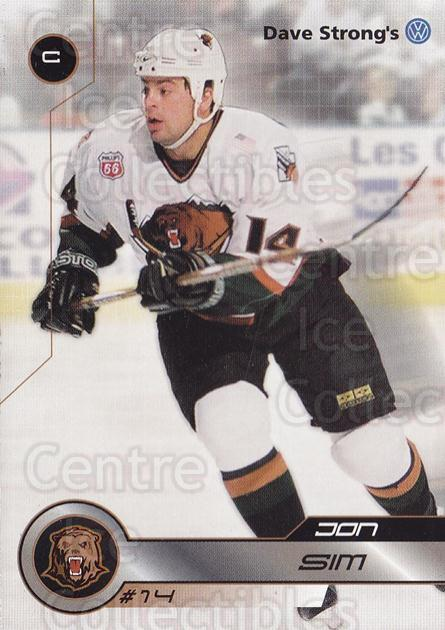 2001-02 Utah Grizzlies #4 Jonathan Sim<br/>2 In Stock - $3.00 each - <a href=https://centericecollectibles.foxycart.com/cart?name=2001-02%20Utah%20Grizzlies%20%234%20Jonathan%20Sim...&quantity_max=2&price=$3.00&code=770726 class=foxycart> Buy it now! </a>
