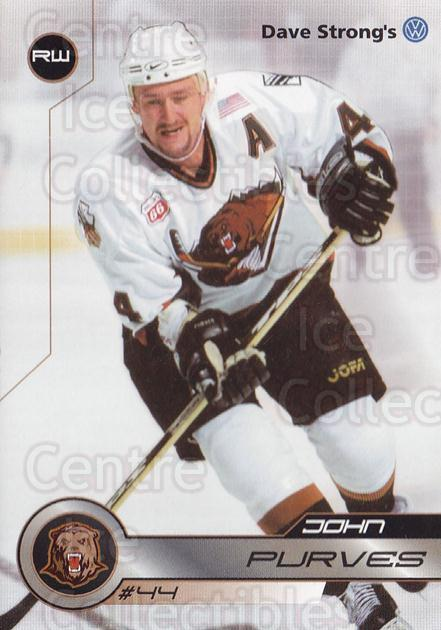 2001-02 Utah Grizzlies #9 John Purves<br/>1 In Stock - $3.00 each - <a href=https://centericecollectibles.foxycart.com/cart?name=2001-02%20Utah%20Grizzlies%20%239%20John%20Purves...&quantity_max=1&price=$3.00&code=770731 class=foxycart> Buy it now! </a>