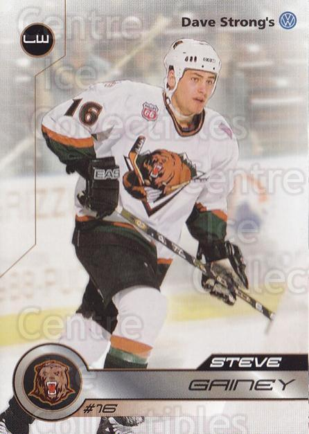 2001-02 Utah Grizzlies #10 Steve Gainey<br/>1 In Stock - $3.00 each - <a href=https://centericecollectibles.foxycart.com/cart?name=2001-02%20Utah%20Grizzlies%20%2310%20Steve%20Gainey...&quantity_max=1&price=$3.00&code=770732 class=foxycart> Buy it now! </a>