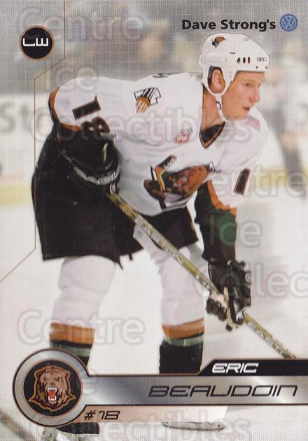 2001-02 Utah Grizzlies #17 Eric Beaudoin<br/>2 In Stock - $3.00 each - <a href=https://centericecollectibles.foxycart.com/cart?name=2001-02%20Utah%20Grizzlies%20%2317%20Eric%20Beaudoin...&quantity_max=2&price=$3.00&code=770739 class=foxycart> Buy it now! </a>
