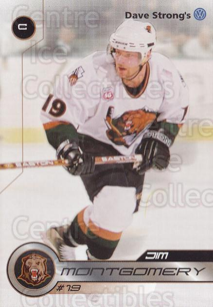 2001-02 Utah Grizzlies #25 Jim Montgomery<br/>1 In Stock - $3.00 each - <a href=https://centericecollectibles.foxycart.com/cart?name=2001-02%20Utah%20Grizzlies%20%2325%20Jim%20Montgomery...&quantity_max=1&price=$3.00&code=770747 class=foxycart> Buy it now! </a>