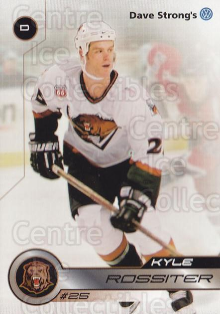 2001-02 Utah Grizzlies #31 Kyle Rossiter<br/>2 In Stock - $3.00 each - <a href=https://centericecollectibles.foxycart.com/cart?name=2001-02%20Utah%20Grizzlies%20%2331%20Kyle%20Rossiter...&quantity_max=2&price=$3.00&code=770753 class=foxycart> Buy it now! </a>