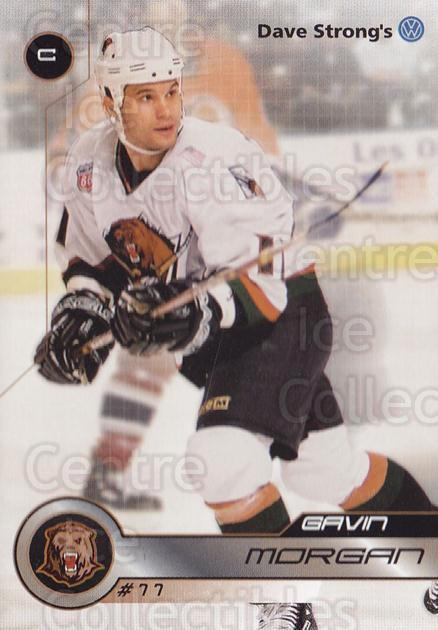 2001-02 Utah Grizzlies #32 Gavin Morgan<br/>1 In Stock - $3.00 each - <a href=https://centericecollectibles.foxycart.com/cart?name=2001-02%20Utah%20Grizzlies%20%2332%20Gavin%20Morgan...&quantity_max=1&price=$3.00&code=770754 class=foxycart> Buy it now! </a>
