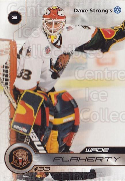 2001-02 Utah Grizzlies #33 Wade Flaherty<br/>1 In Stock - $3.00 each - <a href=https://centericecollectibles.foxycart.com/cart?name=2001-02%20Utah%20Grizzlies%20%2333%20Wade%20Flaherty...&quantity_max=1&price=$3.00&code=770755 class=foxycart> Buy it now! </a>