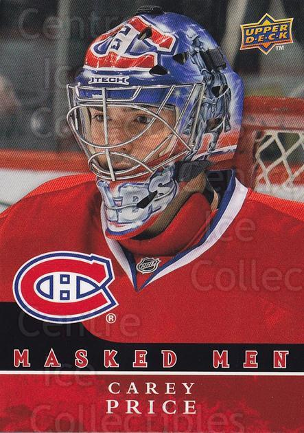 2008-09 Upper Deck Masked Men #5 Carey Price<br/>1 In Stock - $10.00 each - <a href=https://centericecollectibles.foxycart.com/cart?name=2008-09%20Upper%20Deck%20Masked%20Men%20%235%20Carey%20Price...&quantity_max=1&price=$10.00&code=773154 class=foxycart> Buy it now! </a>