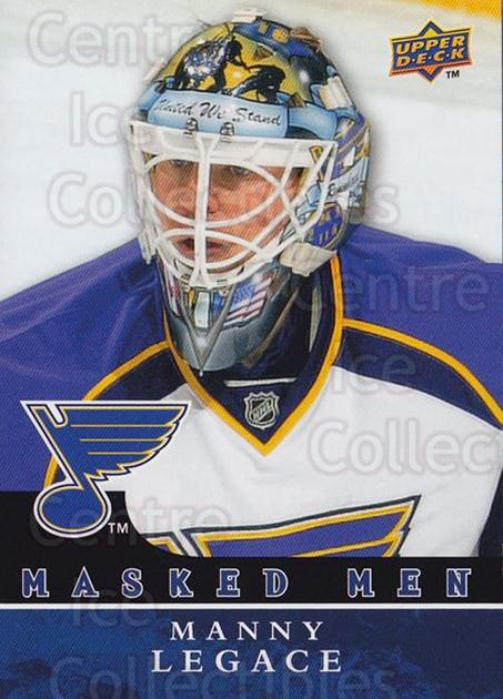 2008-09 Upper Deck Masked Men #12 Manny Legace<br/>1 In Stock - $3.00 each - <a href=https://centericecollectibles.foxycart.com/cart?name=2008-09%20Upper%20Deck%20Masked%20Men%20%2312%20Manny%20Legace...&quantity_max=1&price=$3.00&code=773161 class=foxycart> Buy it now! </a>
