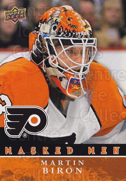 2008-09 Upper Deck Masked Men #23 Martin Biron<br/>1 In Stock - $5.00 each - <a href=https://centericecollectibles.foxycart.com/cart?name=2008-09%20Upper%20Deck%20Masked%20Men%20%2323%20Martin%20Biron...&quantity_max=1&price=$5.00&code=773172 class=foxycart> Buy it now! </a>