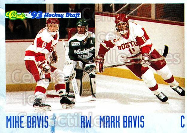 1993 Classic Hockey Draft #60 Mike Bavis, Mark Bavis<br/>6 In Stock - $1.00 each - <a href=https://centericecollectibles.foxycart.com/cart?name=1993%20Classic%20Hockey%20Draft%20%2360%20Mike%20Bavis,%20Mar...&quantity_max=6&price=$1.00&code=7749 class=foxycart> Buy it now! </a>