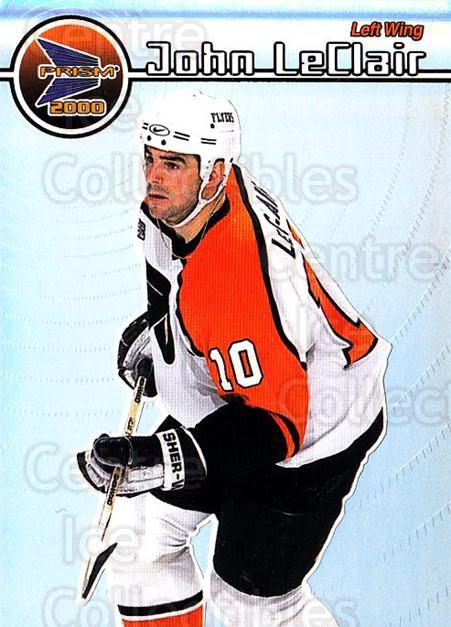1999-00 Pacific Prism #102 John LeClair<br/>4 In Stock - $1.00 each - <a href=https://centericecollectibles.foxycart.com/cart?name=1999-00%20Pacific%20Prism%20%23102%20John%20LeClair...&quantity_max=4&price=$1.00&code=78066 class=foxycart> Buy it now! </a>