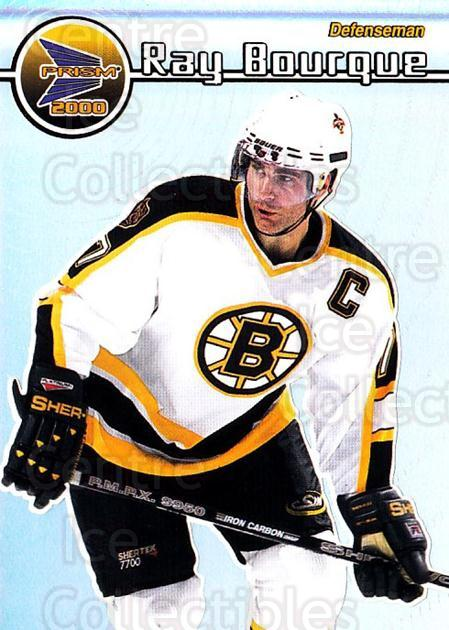1999-00 Pacific Prism #12 Ray Bourque<br/>5 In Stock - $2.00 each - <a href=https://centericecollectibles.foxycart.com/cart?name=1999-00%20Pacific%20Prism%20%2312%20Ray%20Bourque...&quantity_max=5&price=$2.00&code=78084 class=foxycart> Buy it now! </a>