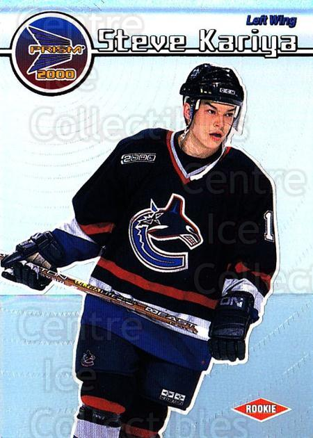 1999-00 Prism #140 Steve Kariya<br/>2 In Stock - $1.00 each - <a href=https://centericecollectibles.foxycart.com/cart?name=1999-00%20Prism%20%23140%20Steve%20Kariya...&quantity_max=2&price=$1.00&code=78105 class=foxycart> Buy it now! </a>