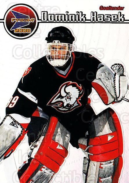 1999-00 Pacific Prism #19 Dominik Hasek<br/>2 In Stock - $2.00 each - <a href=https://centericecollectibles.foxycart.com/cart?name=1999-00%20Pacific%20Prism%20%2319%20Dominik%20Hasek...&quantity_max=2&price=$2.00&code=78118 class=foxycart> Buy it now! </a>